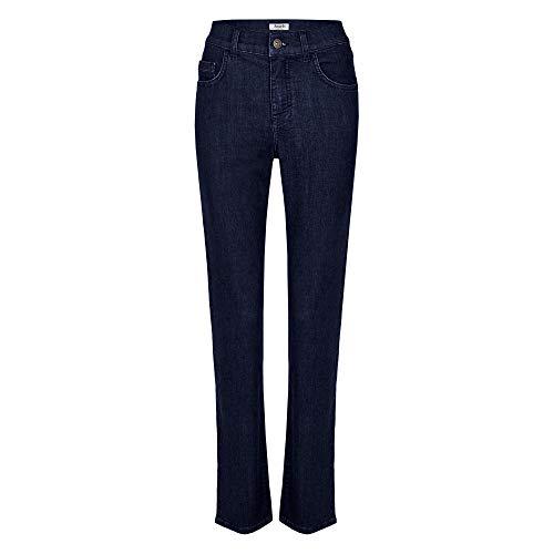 Angels Stretch Jeans (Angels 332 8000 31 Dolly Damen Jeans in Five-Pocket-Form gerades Bein Stretch, Groesse 46/32, dunkelblau denim)