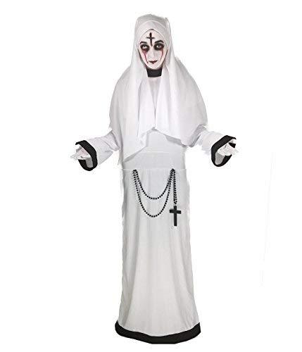 Damen Für Kostüm Nonne Erwachsene - Rubber Johnnies Sinister Schwester Nonne Kostüm,, weiße Scary Mary Kostüm (eine Größe 8-12) Erwachsene Damen