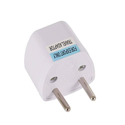 EdBerk74 Universal AU UK US nach EU AC Power Adapter Adapter Konverter Outlet Home Travel Wand AC Power Ladegerät Weiß - Wand Ac Power Adapter