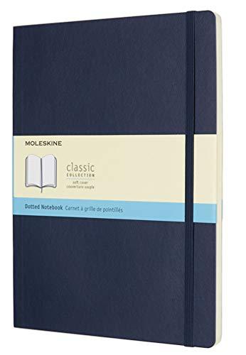 Moleskine Notizbuch, Xlarge, Punktraster, Soft Cover, Saphir