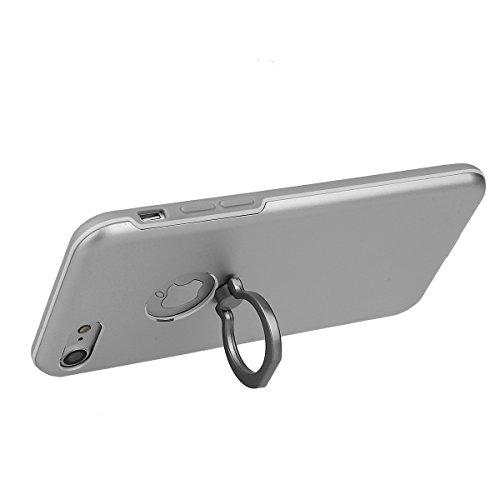 Hülle für iPhone 7 Plus, xhorizon FM8 Ring Hülle Schutzhülle Halter Handyhülle Ständer Case Cove Magnetischer Auto-Einfassungs-Telefon-Halter Silber