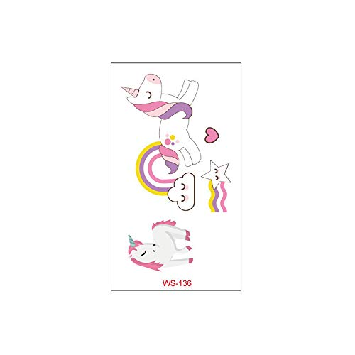 3Pcs-Unicorn tattoo sticker cartoon tattoo animal cute kinderspielzeug außenhandel wasserdicht aufkleber 3Pcs-15