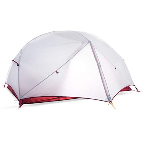 Ultraleichtes Silikonzelt Bergsteigen Wandern Camping Zelt Profi Winddicht Und Regendicht Geeignet for Paare Outdoor-Reise Benutzerfreundlichkeit Ausrüstung (Color : Silver)