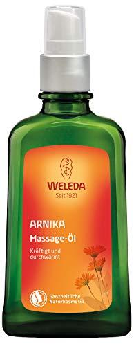 WELEDA Arnika Massage-Öl, pflegendes Naturkosmetik Körper Öl gegen Verspannungen und Verkrampfungen der Muskeln, ideal für vor und nach dem Sport (1 x 100 ml)