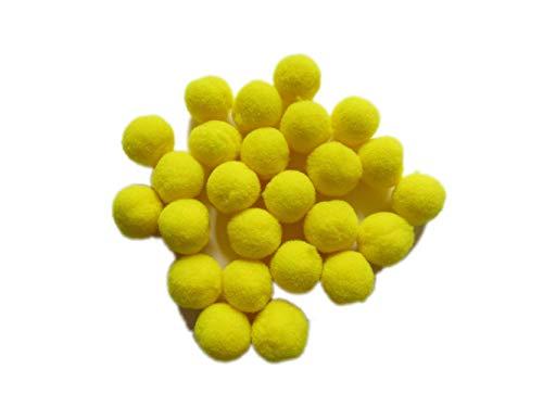(YYCRAFT Bommel für Bastelarbeiten und Dekorationen, Top Qualität, 20mm Yellow, 20 mm)