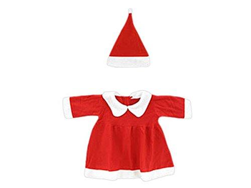 tüm Mädchen Baby Weihnachtskleid (Wk-95) Nikolauskostüm 2-teilig bis 12 Monate Größe 60-92 ()