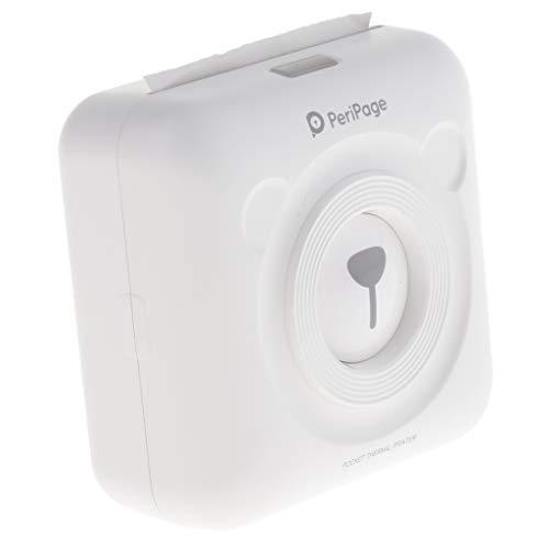 Homyl Tragberer Thermobondrucker Taschenformat Thermopapier Fotodrucker unterstützt USB und Bluetooth mit Papier -Weiß