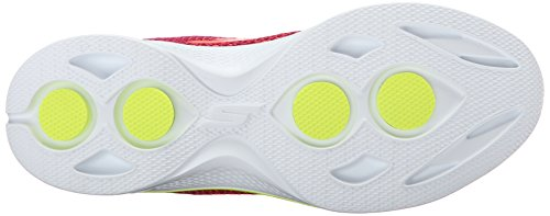 Skechers Gowalk 4 Exceed, Baskets Basses Femme Pink/Lime