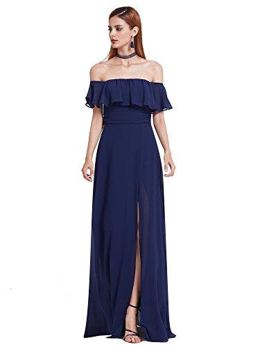 Ever Pretty Damen Elegant Brautjungfer Kleid 42 Größe - Dunkelblau