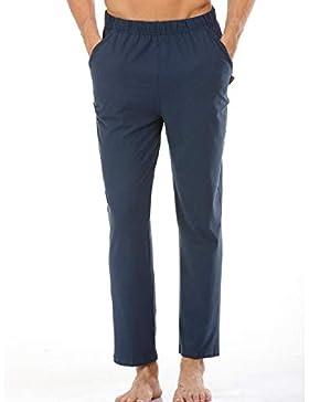 Meaeo 100% Algodón Dormir Leggings Pijamas De Los Hombres Pijamas Simples Hombres Transpirables Pantalones De...