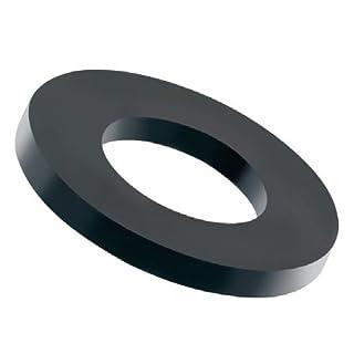 100 Stück Kunststoff Unterlegscheiben schwarz M6