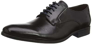 Clarks Men's Banfield Walk Black Leather Formal Shoes - 10 UK