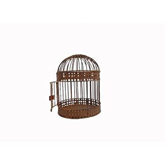 Craft Outlet Antique Rustic Wired Bird Cage, Multi-Colour, 8.5 x 10.5-Inch 7