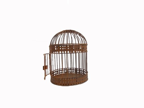 Craft Outlet Antique Rustic Wired Bird Cage, Multi-Colour, 8.5 x 10.5-Inch 1