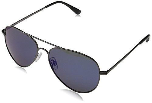 Polaroid Unisex-Erwachsene P4139 KF S3T Sonnenbrille, Blau (Gunmetal Dark Blue/Bluette Mirror Polarized), 58