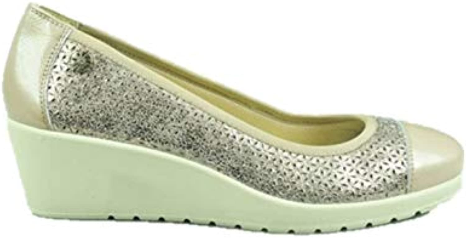 ENVAL SOFT 3259833 Mocassini Zeppa Slip on Ballerine Taupe Donna | Louis, in dettaglio