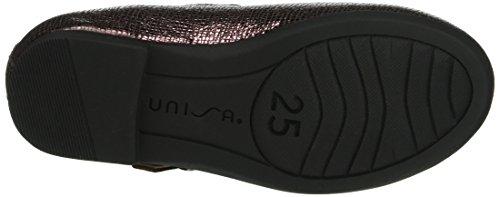 Unisa Mädchen Click_Il Durchgängies Plateau Ballerinas Rot (Grape)