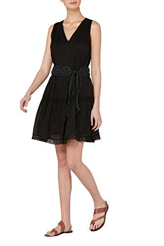 next Robe d'été avec finitions en dentelle Petite Femme Noir