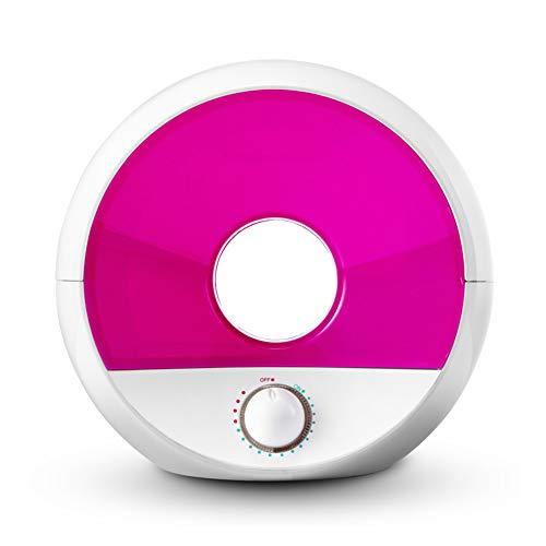 WO NICE Humidificador Ion Negativo Esterilizable filtrable Luz de la Noche Niebla fría Ajustable Humidificador Mudo Prevención de Fugas de Agua Aceite Esencial Difusor,Pink