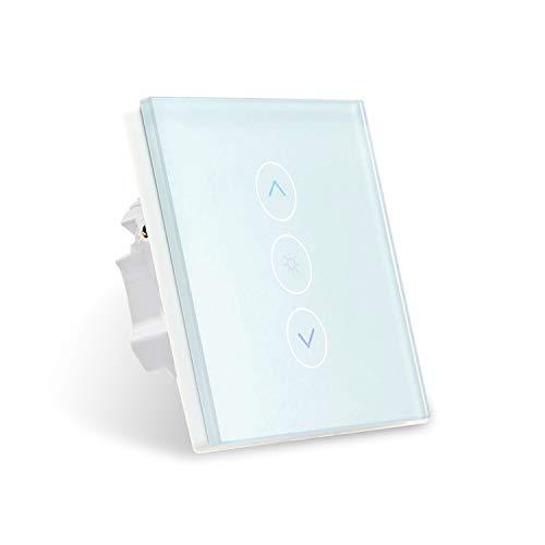 Smart Intelligenten Lichtschalter dimmbar Touch Dimmer alexa Glas Touchscreen-Schalter, funktioniert mit Amazon Alexa/Google Home/Neutralleiter Erforderlich