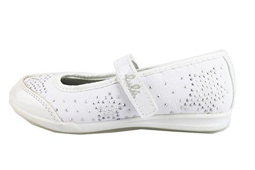 scarpe bambina LULU' 29 EU ballerine bianco tessuto / strass AG651