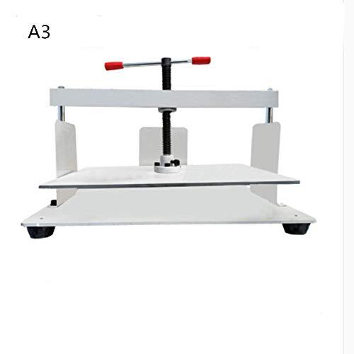 Baoshishan Manuelle Flach-Papierpresse A3/A4/A5/B3 zum Ausfüllen von Gutscheinen, Büchern, Rechnungen, A3, 1