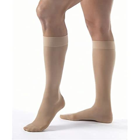 Jobst UltraSheer KNEE HIGH Firm 20-30mmHg Compression M, Classic Black by Jobst