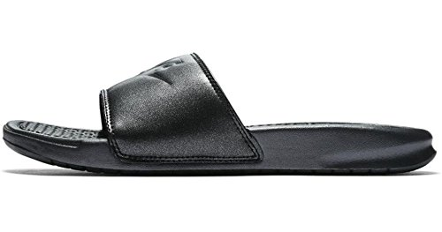 timeless design 4a57b 8230c Nike WMNS Benassi JDI QS, Chaussures de Fitness Femme, Multicolore (Metallic  Black 001