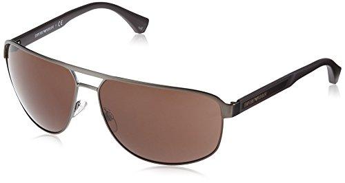 Emporio Armani Herren 0EA2025 300373 64 Sonnenbrille, Grau (Matte/Brown),