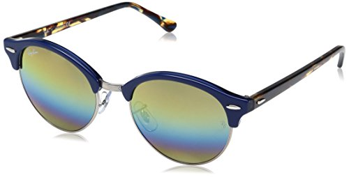 Ray-Ban Clubround, Gafas de Sol Unisex-Adulto, Top Blue On Trasparent Blue, 51