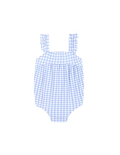 d45b4128b744 Gocco Baby-Mädchen Badeanzug Bañador Cuadros Vichy Blau (Azul Ac) 92  (Herstellergröße: 18/24)