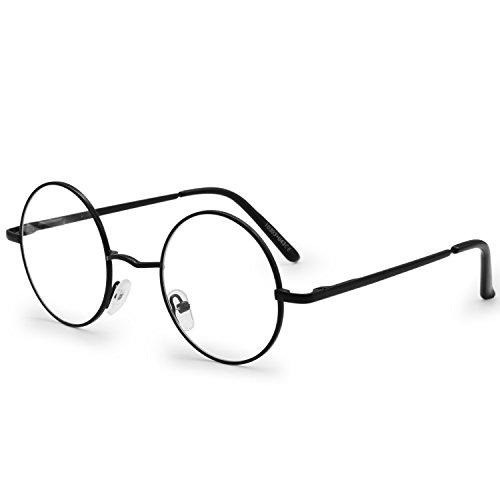 AMZTM Metall Rahmen Klein Runden Klassisch Retro Lesen Brille Für Damen Und Herren Anti Blaues Licht Computer Brille UV400 Blendung Strahlung Schutz Entlasten Augen Ermüdung Trocken (Strahlung Trockene Auge-brille)