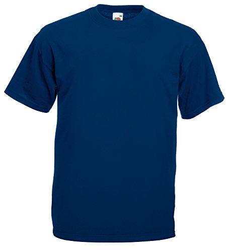 10er Pack Valueweight Fruit of the Loom T-Shirt Größe S - 5XL T-Shirts in vielen Farben XXXXL / 4XL,navy - Herren Seide Kurzarm Shirts