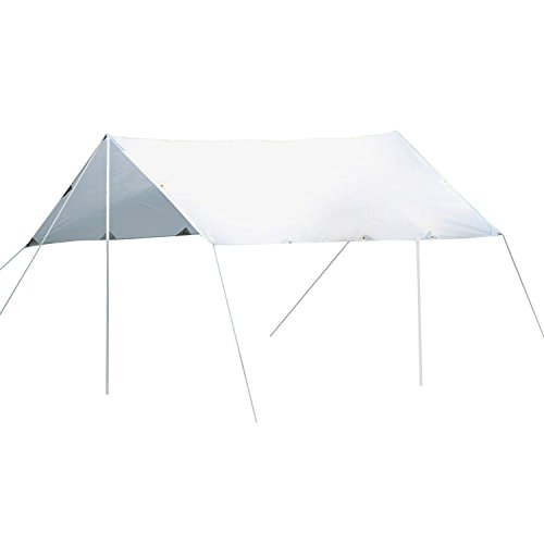 Outsunny Sunshade UV Protection Waterproof Awning Canopy Outdoor Camping Tent Tarp Hiking Shelter (Cream White)