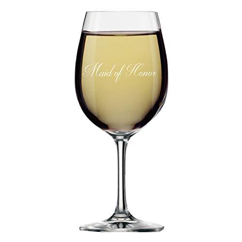 My Personal Memories Weinglas mit Stiel, für Brautpartys Maid of Honor 14oz Script Style