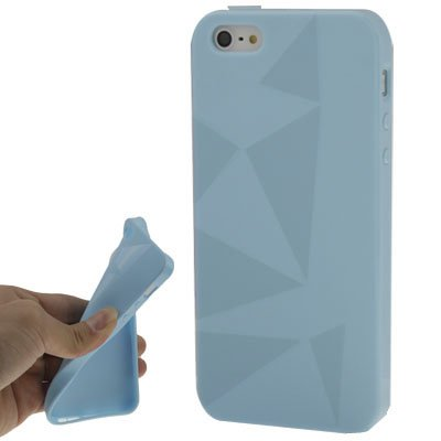 """iPhone 5/5S Coque/Case en Silicone Bleu clair Style """"Triangle-Original seulement de thesmartguard"""