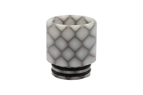 EzVapor 810 Drip Tip Grau Grey   Wide-Bore DTL Mundstück E Zigarette   Driptip aus Harz Material Resin   810er Drip Tip Bienenwaben Muster -