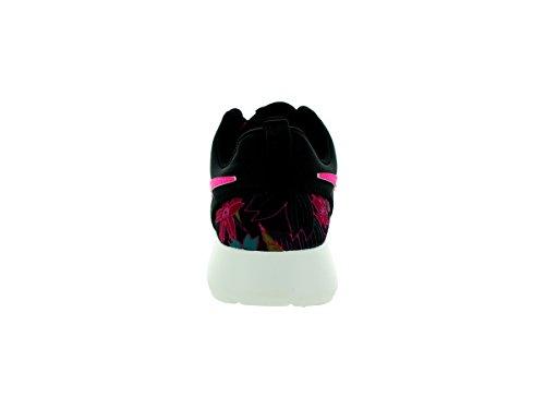Nike Wmns Roshe One Print Premium donna, tela, sneaker bassa Black/Pink Foil-Sail
