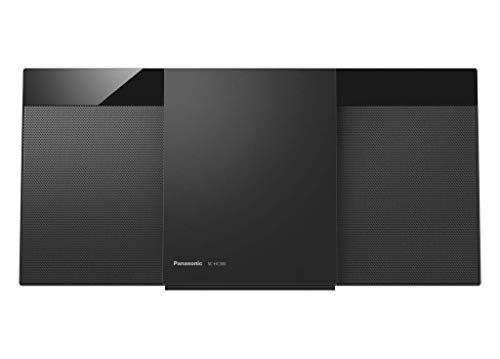 Panasonic Micro Chaine HiFi Bluetooth SC-HC300EG-K Lecteur CD, Radio FM, 20W, Auxiliaire Auto-Play, Design Moderne, Fixation Murale, Noir - Version Français