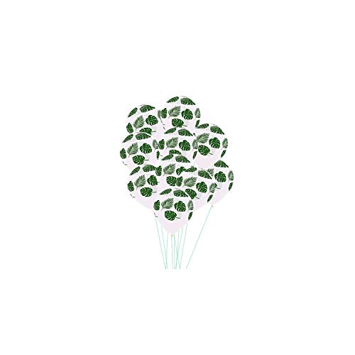 Latexballons Hochzeit Dekoration Green Leaf Hawaii-Geburtstags-Party-Baby-Dusche, 2,30Pcs (Dekorationen Baby-dusche Teal Und Lila)