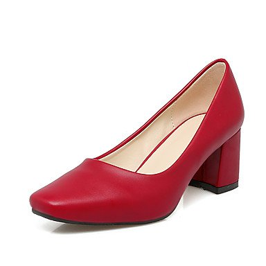 LYNXL Talloni delle donne Primavera Estate Autunno Inverno Dress Altro PU ufficio & carriera Party & Sera tacco grosso Rosa Rosso Beige Red