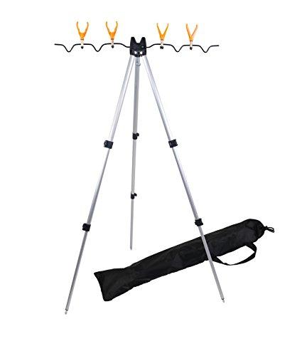 Angelruten-Teleskop-Stativ Dreibein-Rutenständer Angelrutenständer Rutenauflage