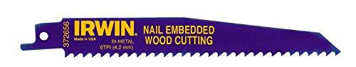 Irwin 10504158 - Cuchilla de sierra caladora para cortar madera con clavos incrustados (5 unidades)