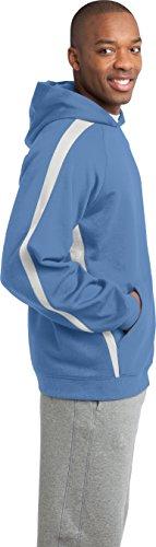 Sport-Tek da uomo maniche a righe pullover felpa con cappuccio Car Blue/White