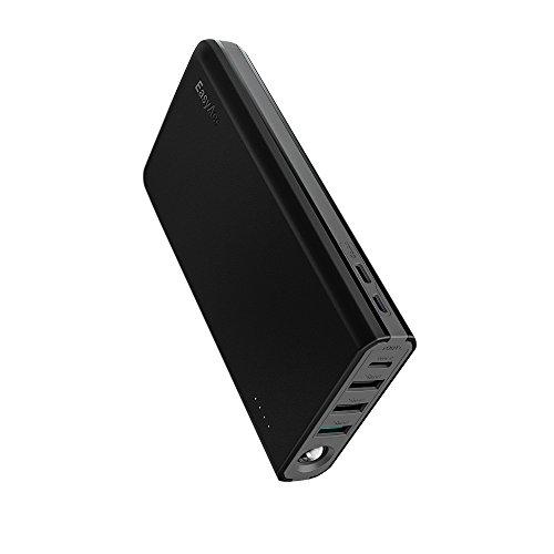 EasyAcc Powerbank 20000mAh Quick Charge 3.0 USB C MegaCharge Passthrough Portables Ladegerät Type C Externer Akku mit Durchgangsladung für Smartphone Tablet Nintendo Switch usw.