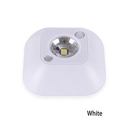 rungao Mini Wireless Light Sensor LED Licht Intelligente Deckenleuchte Zelt Nachtlicht Veranda Wand Lampen, weiß
