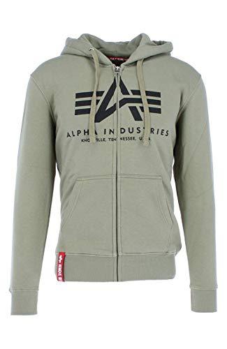 Alpha Industries Basic Zip Hoodie Hellgrün L - Basic Zip Hooded Sweatshirt