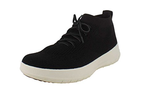Fitflop Uberknit Slip On High Top Damen Schuhe Schwarz Black