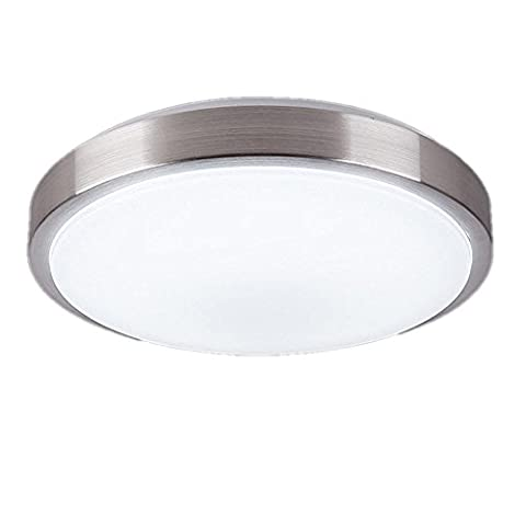 GUO 8W 8-inch Ultra-thin LED Ceiling Lights, White, 60W Incandescent (18W Fluorescent) Bulbs Equivalent, Flush Mount Ceiling Lighting - Round Aluminum (8w)