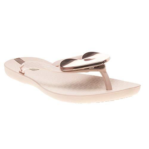 Ipanema Women's Maxi Heart 21 Plastic Toe Post Flip Flop Rose-Rose-6 Size 6